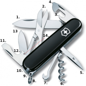 Victorinox Climber Swiss Army Knife - Black
