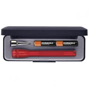 Maglite Mini AAA with Batteries and Gift Box - Red