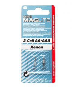 Maglite Mini AA / AAA Bulb Replacement Part - Two Per Card