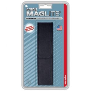 Maglite AA Full Flap Black Nylon Holster
