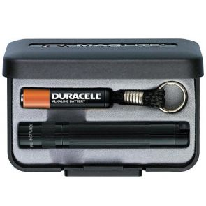 Maglite Solitaire with Battery and Gift Box - Black