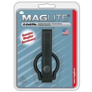 Maglite C Belt Holder Accessory - Black - Plain Leather