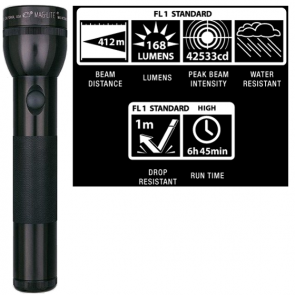 Maglite LED 2 D Cell Flashlight - Black