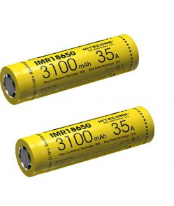 Nitecore IMR18650 35A Battery - 3100mAh (2 Pack)
