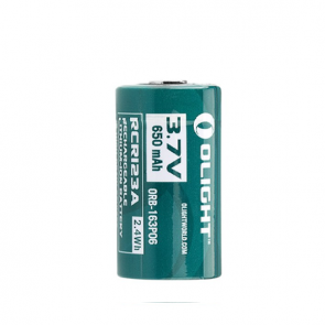 Olight 16340 RCR123A 3.7V Rechargeable Lithium-Ion Battery - 650mAh