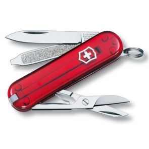 Victorinox Classic SD Swiss Army Knife - Transparent Red
