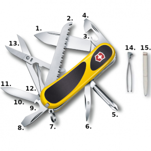 Victorinox Evolution Grip 18 Swiss Army Knife - Yellow