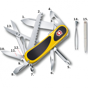 Victorinox Evolution Grip S18 Swiss Army Knife - Yellow