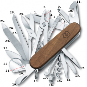 Victorinox Swiss Champ Swiss Army Knife - Walnut Wood