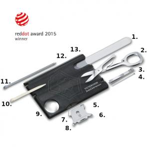 Victorinox SwissCard Nailcare Multi-Tool - Transparent Black