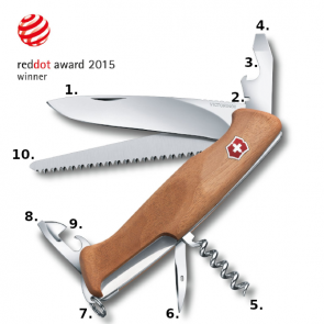 Victorinox Ranger 55 Swiss Army Knife - Walnut Wood